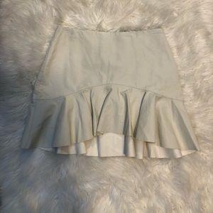 4/25$$ Zara White Faux Leather Mini